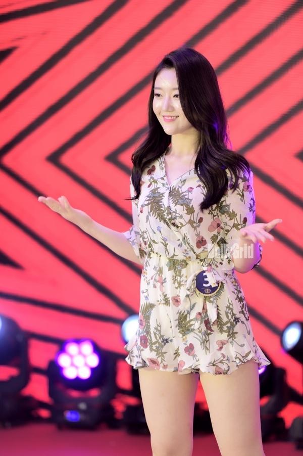 ▲ 이유나가 광주대회 에서  댄스를 보여주고 있다,  / ⓒ 오종준 기자